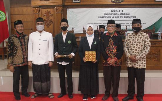 UPT Pusat Studi Aswaja Laksanakan Haflah BTQ Bagi Mahasiswa Baru Fakultas Sains dan Teknologi UNISNU Jepara (30/9/20)