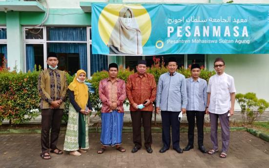 Tim UPT PSA Berkunjung dan Bersilaturrahmi di Pesantren Mahasiswa Sultan Agung Semarang (03/03/21)